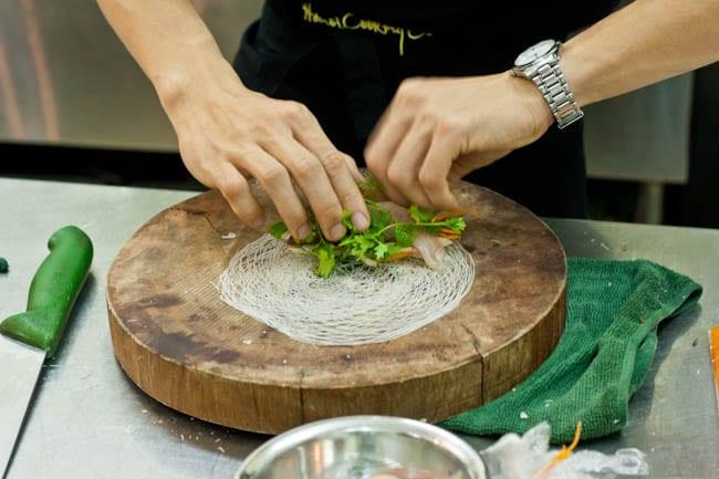 Tuna Rolls in the making