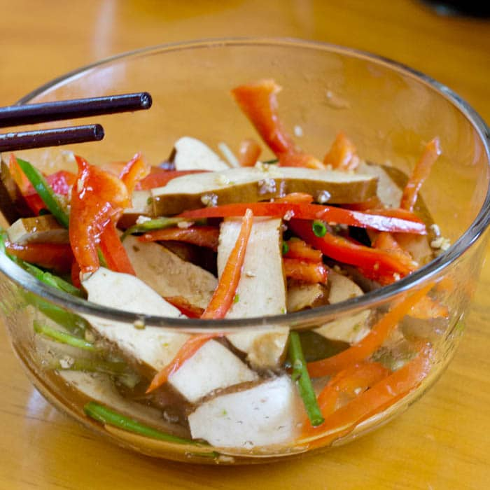 Asian Tofu Salad with Dried Tofu
