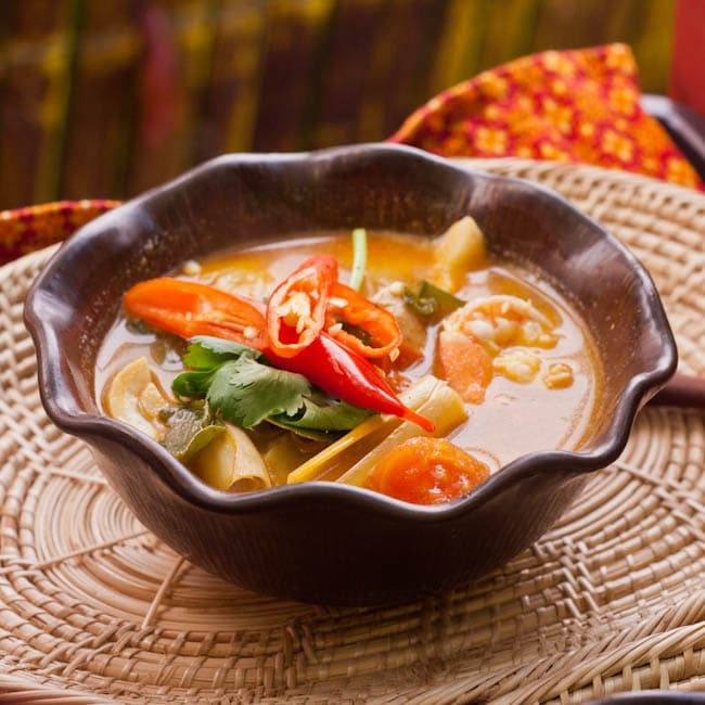 Tom Yum Shrimp Soup ready to eat
