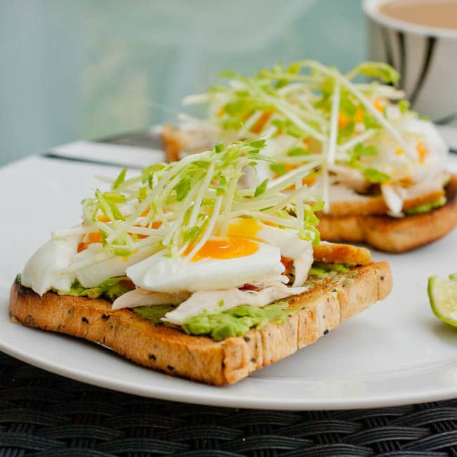 Soft Boiled Egg Sandwich with Avocado