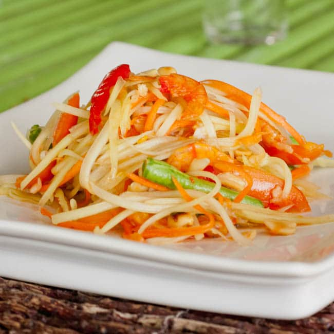 Thai Green Papaya Salad {Gluten-Free}