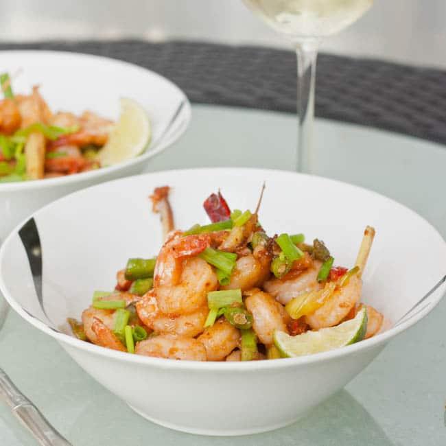 roasted chili paste shrimp