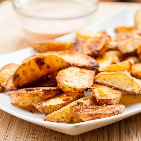 Oven roasted Vegan potato wedges