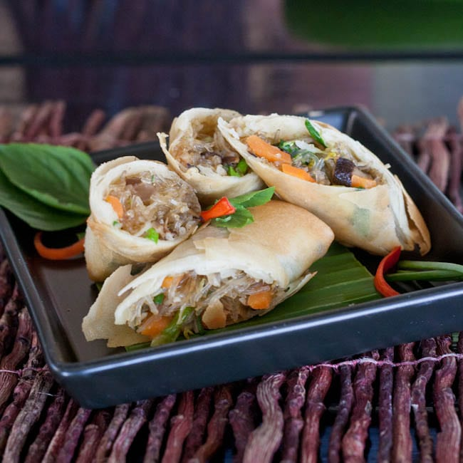 Appetizing Thai Spring Rolls Gluten Free and Vegan
