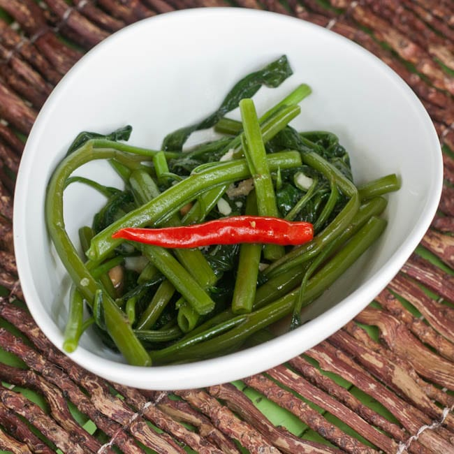 stir fried morning glory