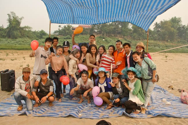 group outing in Laos