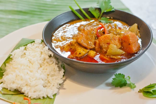 Thai Massaman Curry with chicken and sweet potatoes