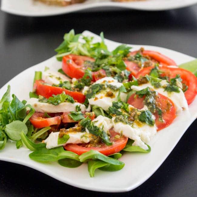 Caprese Salad with Pesto
