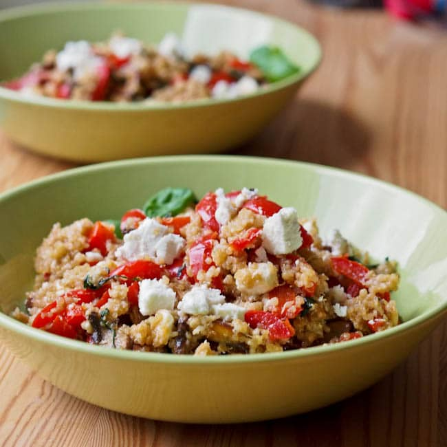 Mediterranean Quinoa with Peppers {Gluten-Free, Vegan}