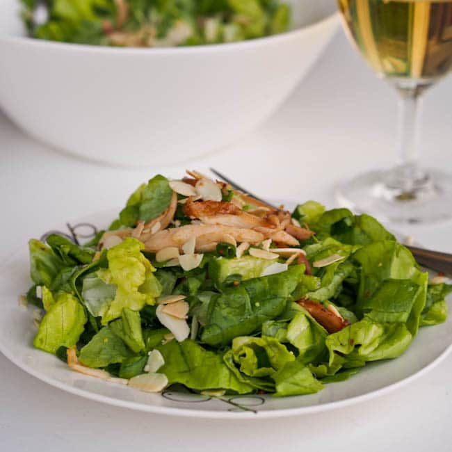 mustard chicken salad with almonds