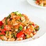 ratatouille with cherry tomatoes and canellini beans