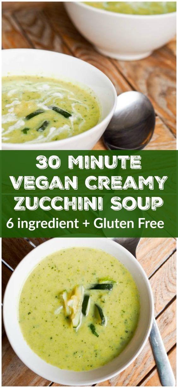 vegan zucchini soup pin
