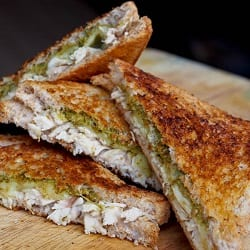 Chicken and Pesto Panini {Gluten-Free}