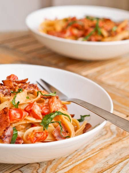 Savory Ham and Tomato Pasta