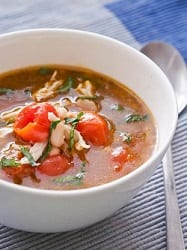 Chicken Soup with Cherry Tomatoes and White Beans {GF, DF}