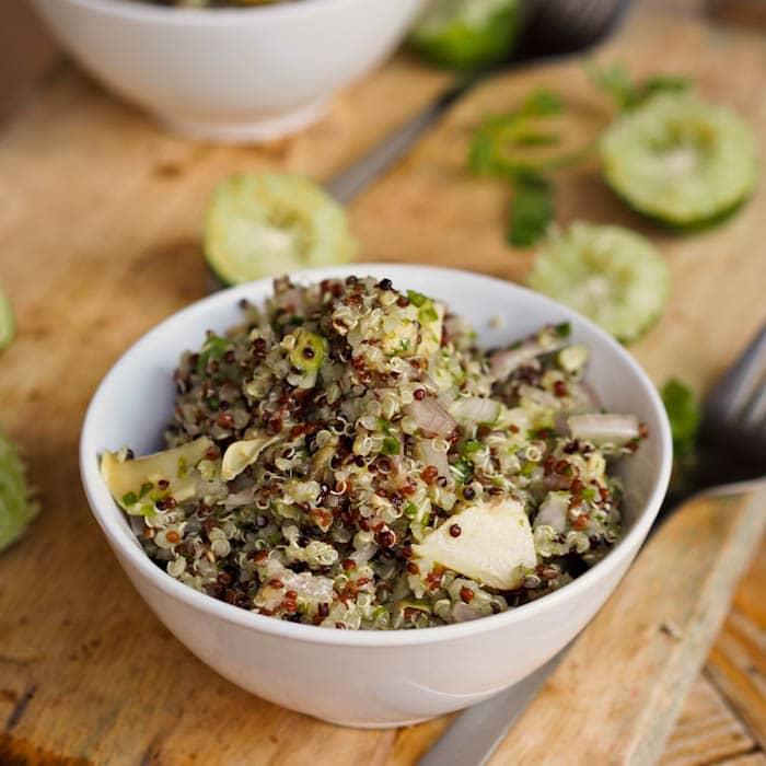 Lime quinoa with veggies