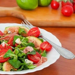 Fig, Prosciutto, Blue Cheese and Tomato Salad {Gluten-Free}
