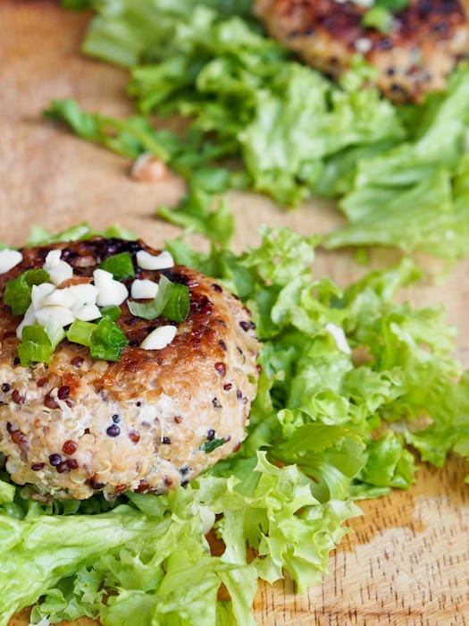 Asian Quinoa Ground Pork Burgers
