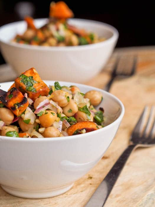 Sweet Potato and Chickpea Salad {Gluten-Free, Vegan}