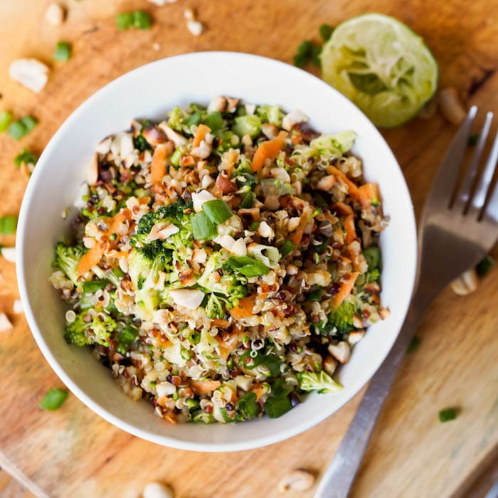 Thai Veggie Quinoa Bowl Recipe