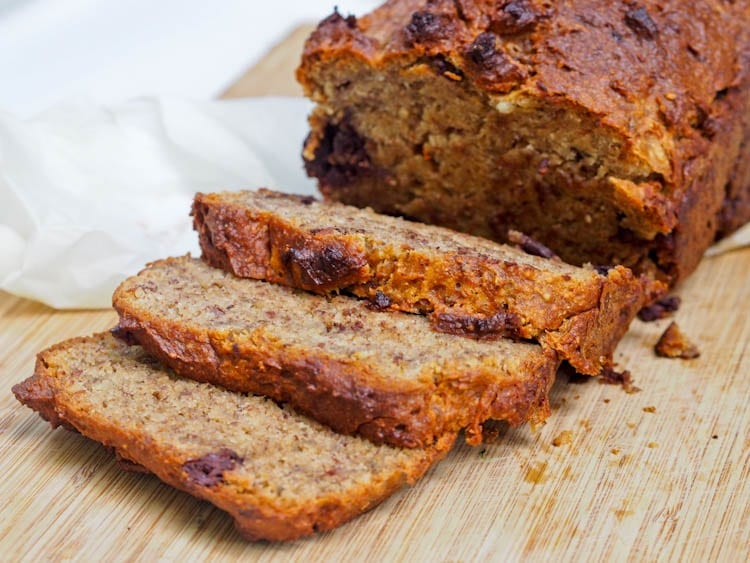 One Bowl Healthy Vegan Gluten Free Banana Bread