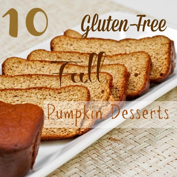 10 Gluten Free Fall Dessert with Pumpkin Recipes