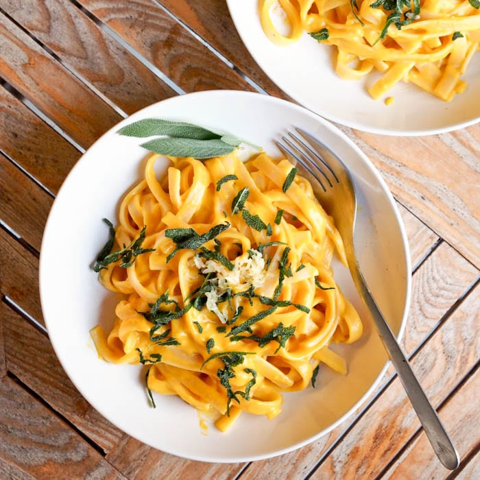 Pasta with pumpkin recipe