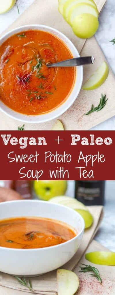 vegan sweet potato soup pin