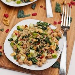 Crunchy Kale Quinoa Cranberry Salad {Gluten-Free, Vegan}