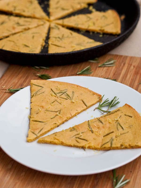 Farinata Genovese with rosemary