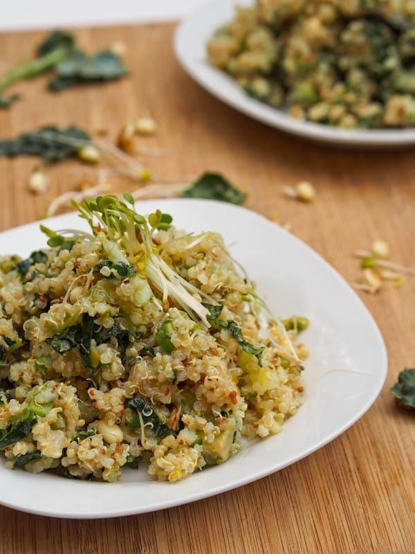 Kale Quinoa Alfalfa Salad