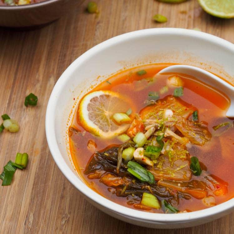 Free Recipes For Chicken: Chicken Kimchi Soup Recipe {Gluten-Free, Dairy-Free}