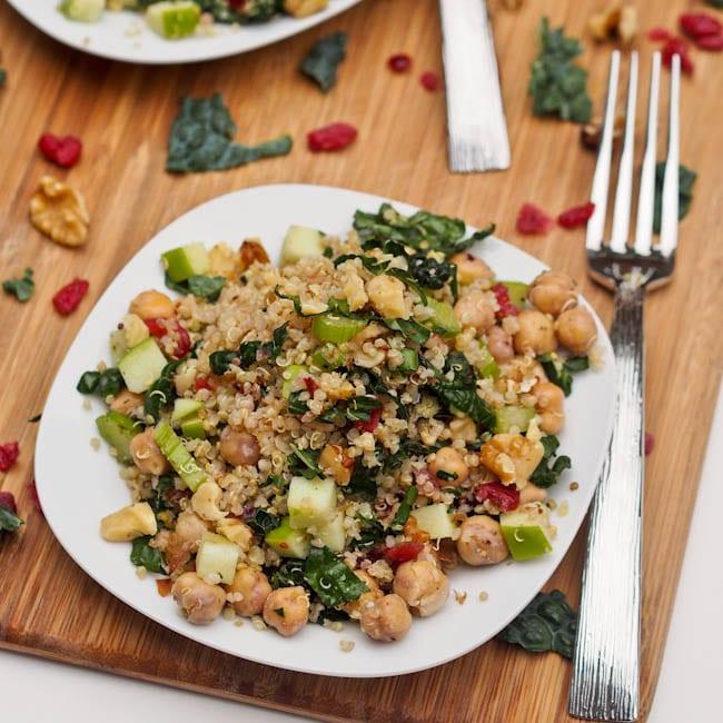 kale quinoa cranberry salad