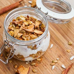 Pumpkin Granola with Coconut Flakes {Gluten-Free, Vegan}