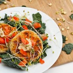 White Bean Quinoa Pumpkin Veggie Burger {Gluten-Free, Vegan}