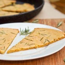 Farinata with Rosemary – Gluten Free and Vegan Italian Pizza
