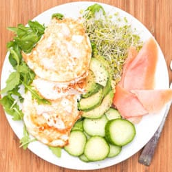 Salmon and Eggs Breakfast with Avocado and Alfalfa {GF, DF}