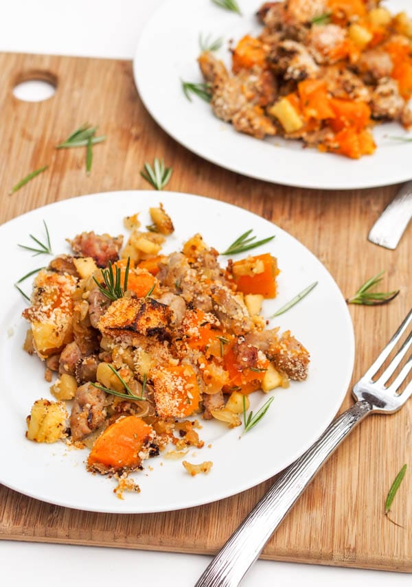 Butternut Squash Chicken Sausage bake