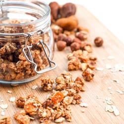 Hazelnut, Apricot and Fig Granola {Gluten-Free, Vegan} Recipe