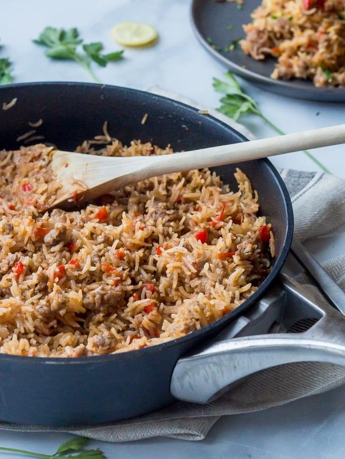 Sausage Rice Ready
