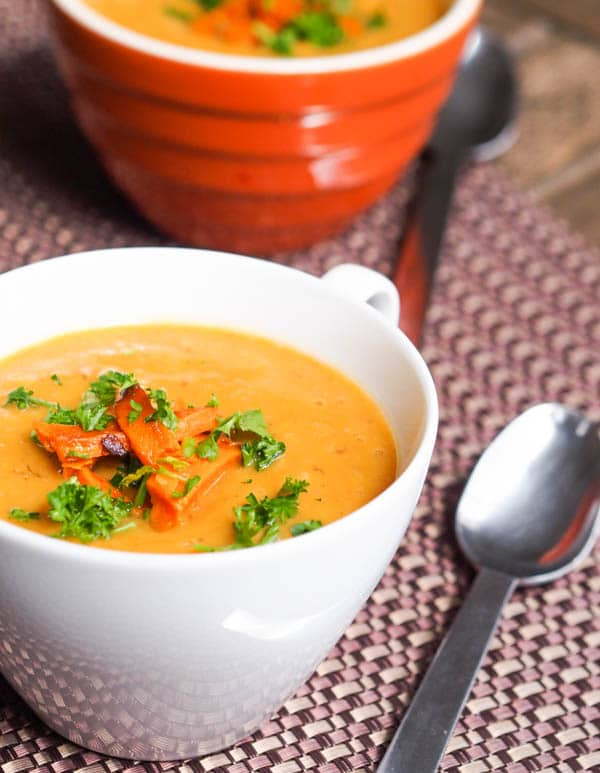 sweet potato parsnip soup