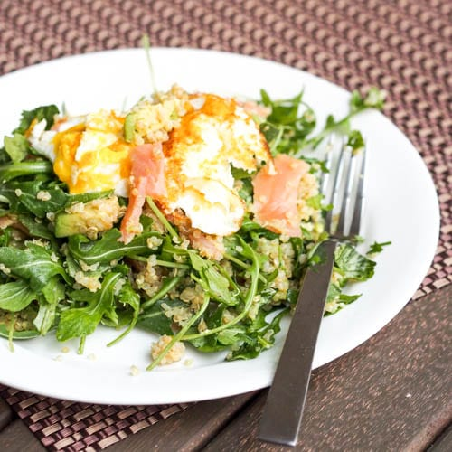 Savory breakfast quinoa salad