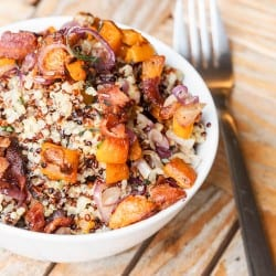 Bacon Quinoa Sweet Potato {Gluten-Free, Dairy-Free}