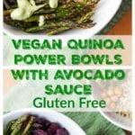 vegan quinoa bowl pin