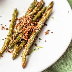Vegan Baked Green Bean Fries with Hemp Seeds {Gluten-Free}