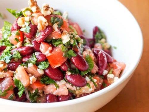 Kidney Bean Salad With Tomato Parsley And Walnuts Gluten Free Vegan