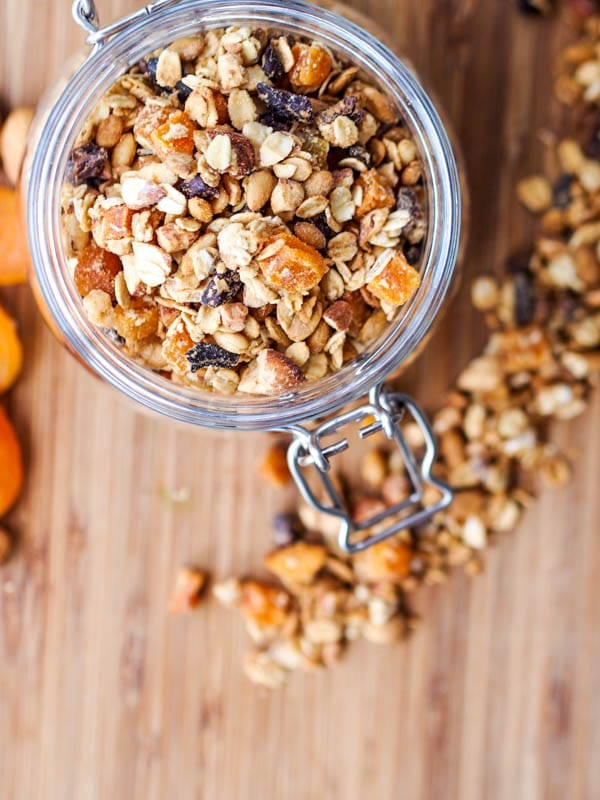 apricot granola crunchy and crumbly
