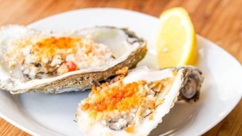 Baked Oysters with Spicy Mayo Panko Sauce