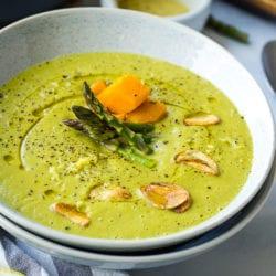vegan Asparagus soup_