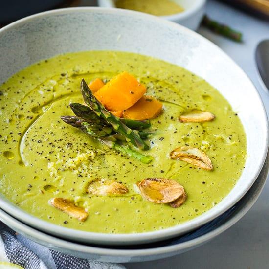 Soup Recipes Asparagus: Vegan Asparagus Soup Recipe {Stove Top & Instant Pot}
